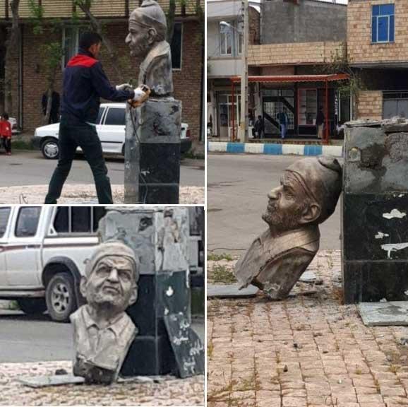 تخریب تندیس شهریار در پارسآباد مغان