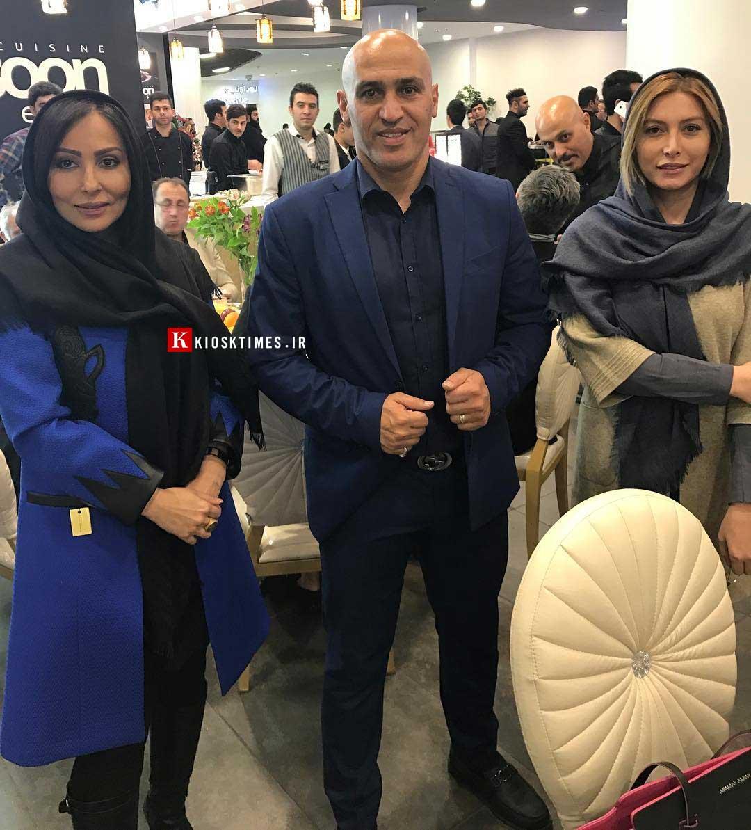 پرستو صالحی در افتتاحیه فست فود منصوریان
